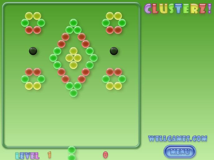 coole spiele clusterz